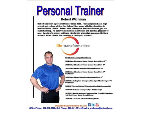 Personal Bios Biography Templates Free Word Pdf Documents Creative Template Image Titled Write Personal Trainer Biography Template