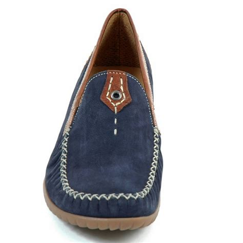 navy loafers womens gabor shoes california womens wide fitting loafer