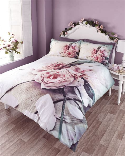 rose comforter vintage rose photo print duvet quilt cover bedding set