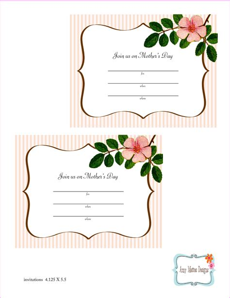 printable parents day invitation template best holiday