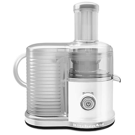 bed bath and beyond juicers buy kitchenaid 174 kvj033wh easy clean centrifugal juicer in