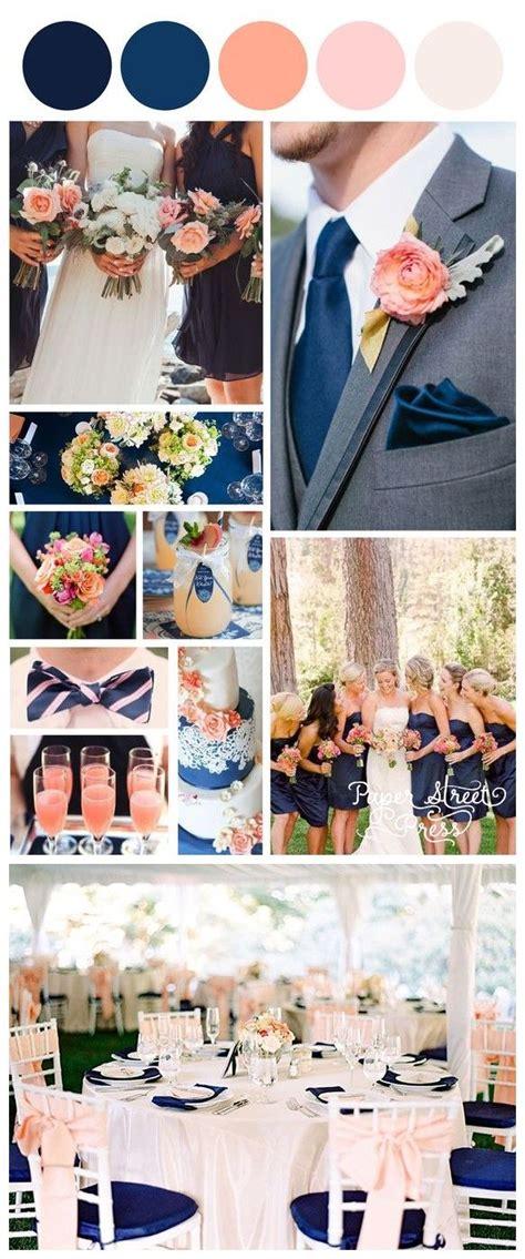 peach navy blue nigerian 18 peach and navy blue inspired wedding color ideas