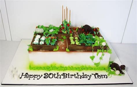 This Cake Was Created For An Avid Gardener I Was Asked To Vegetable Garden Cake Ideas
