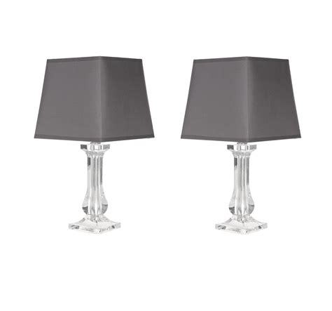 clear plastic bedside table modern set of 2 clear acrylic bedside table l lights