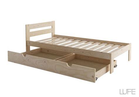 cama 90 con cajones cama individual con lamas y caj 243 n muebleslufe