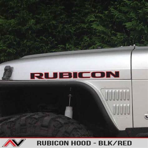 jeep decals rubicon decal blk alphavinyl