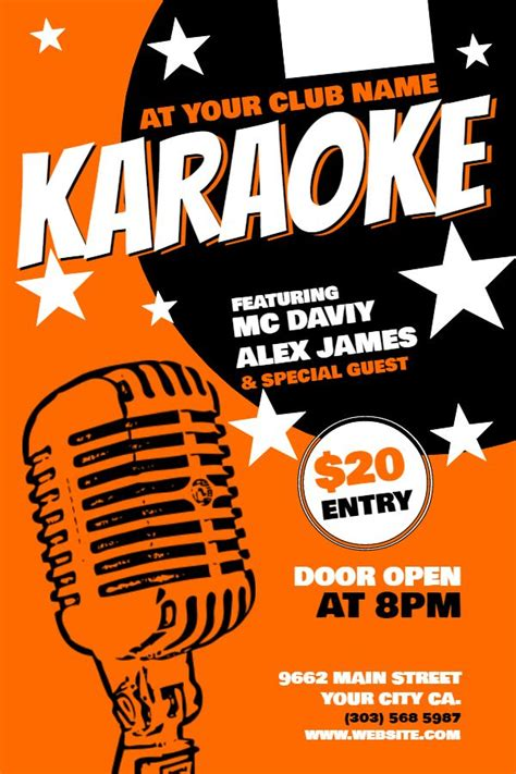 online templates for posters 30 best karaoke poster templates images on pinterest