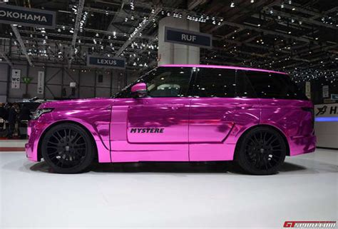 chromatic colorful suv designs chrome pink range rover