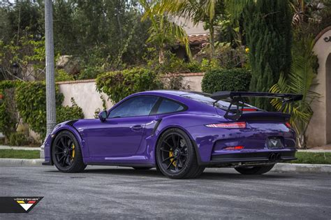 dark purple porsche vorsteiner porsche 991 gt3 rs purple beast