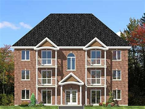 family house plans six plex multi family house plan 90153pd architectural