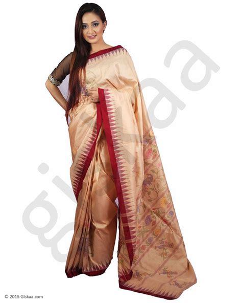 100 Kualitas Terjamin Sari New Pack Buy Flora Licious Rani Silk Saree With Maroon