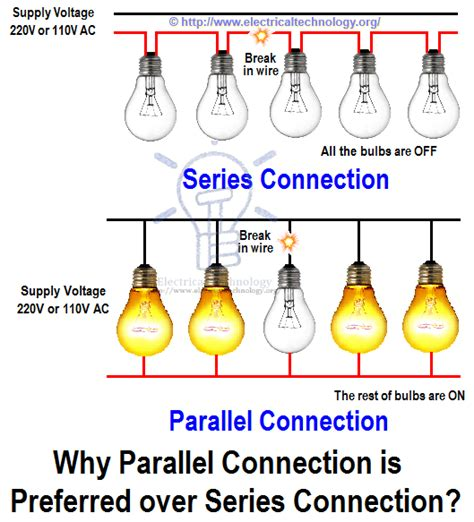 why parallel connection is preferred series connection