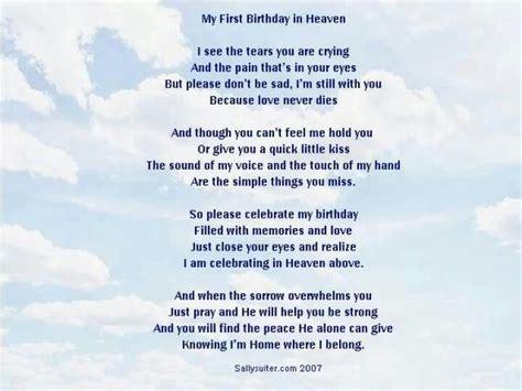in heaven poem birthday poem from heaven poems birthdays