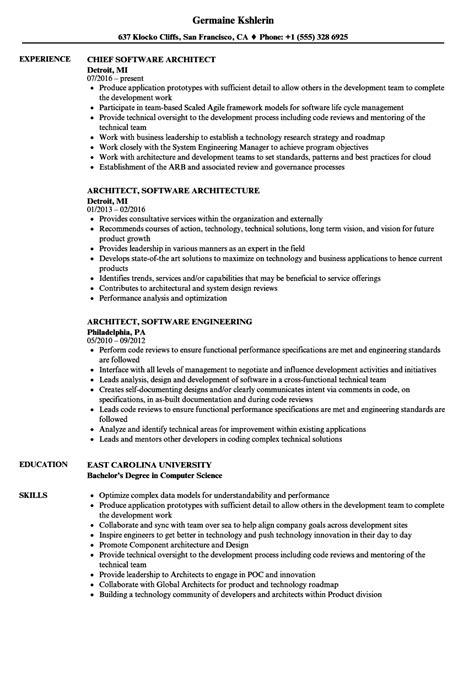 architect software resume sles velvet