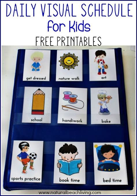 printable picture schedule autism daily visual schedule for kids free printable visual