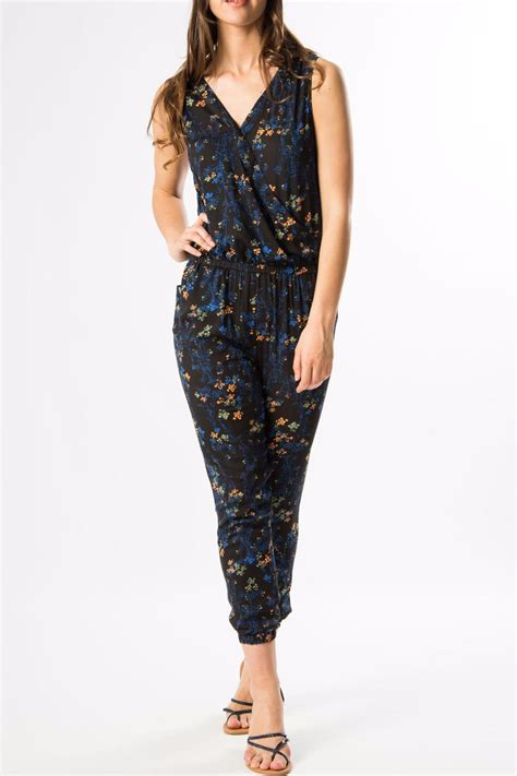 Navy Jumpsuit By Vierra Shop skunkfunk navy floral jumpsuit from edinburgh by just g