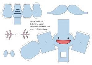 papercraft template wooper papercraft template by simonlarsen on deviantart
