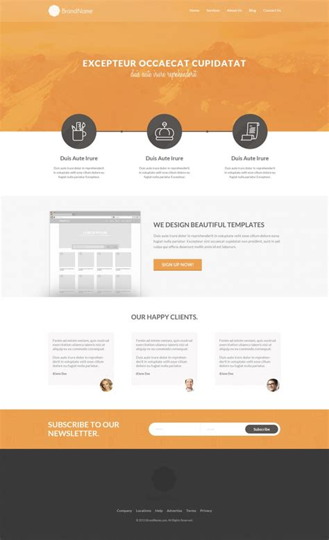 15 Best Psd Website Templates For 2014 Photoshop Website Templates
