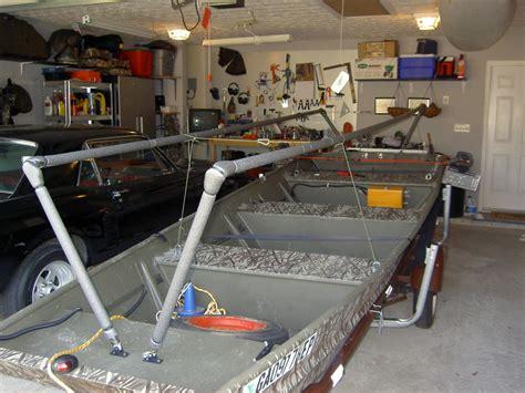 duck blind on jon boat get 2 man duck boat plans fibre boat
