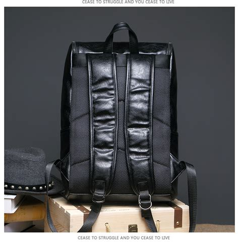 417 Import Backpack mens leather fashion casual backpack shoulder bag coffee