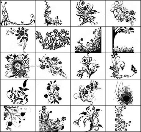 pattern brushes for photoshop cs3 free download floral decorative flower brushes photoshop photoshop