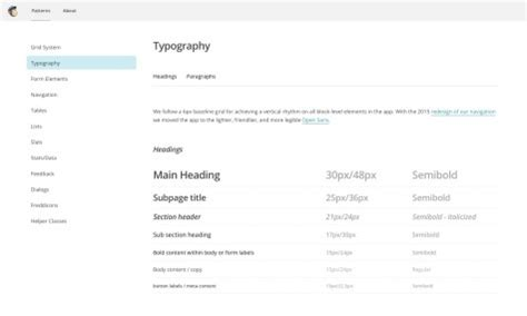 mailchimp pattern library github living style guide nuove prospettive tomstardust com