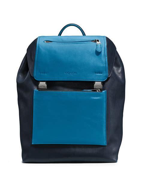 Backpack Blue coach manhattan backpack in blue for lyst