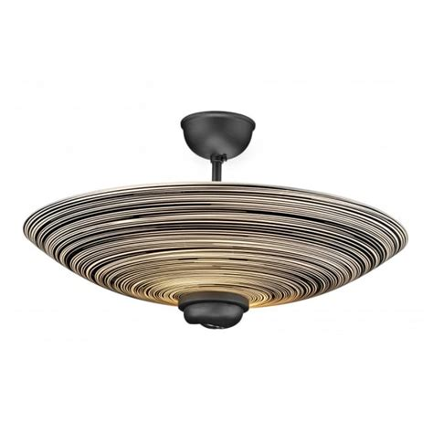 swirl black glass ceiling uplighter for low ceilings