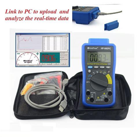 Digital Multimeter Holdpeak Hp 36c holdpeak hp 90epc digital multimeter battery tester with usb pc link