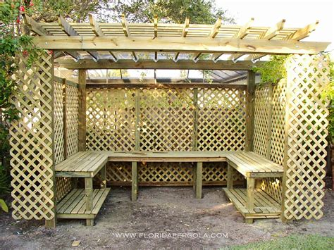 Florida Style Home Plans pergola wrapped with lattice as an orchid house florida