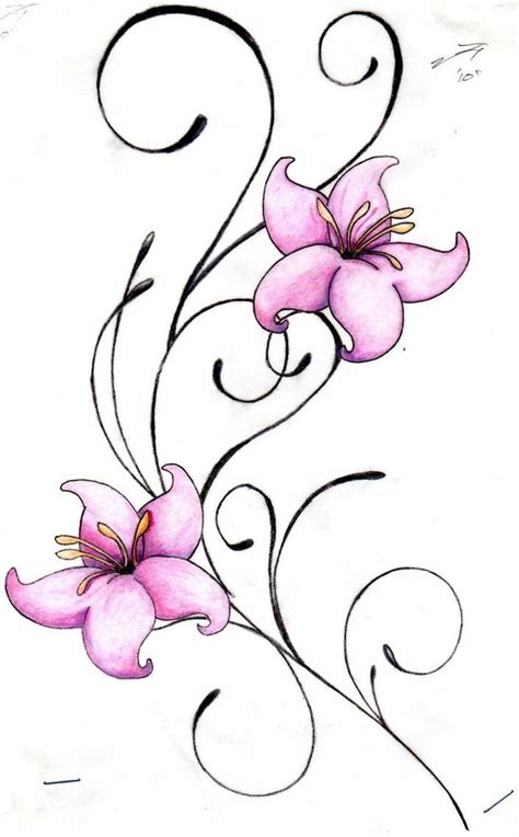 flower star tattoo designs designs swirls and flowers by