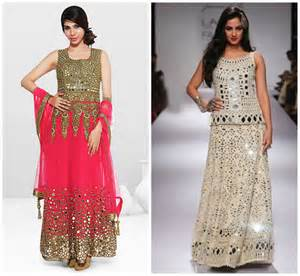 What To Wear To An Evening Wedding In May by Mirror Work Embroidered Design Dresses For Modern Girls