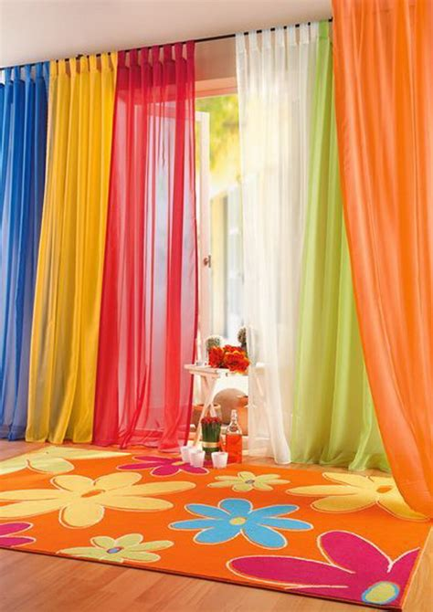 Colorful Bedroom Curtains | playfully colorful curtains for your kids bedroom abpho