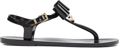 black bow flat sandals mulberry jelly bow flat sandals in black lyst