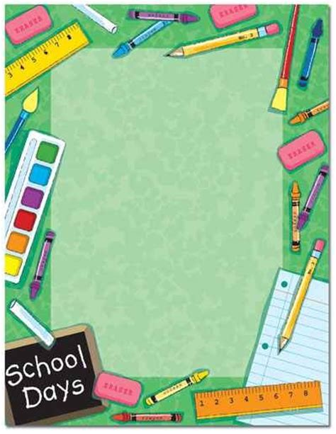 newspaper themed border welcome back to school page borders drawing and coloring