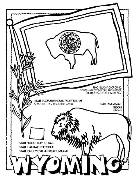 state coloring pages crayola wyoming coloring page crayola com