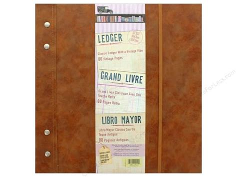 7 gypsies architexture ledger notebk 12x12 leather