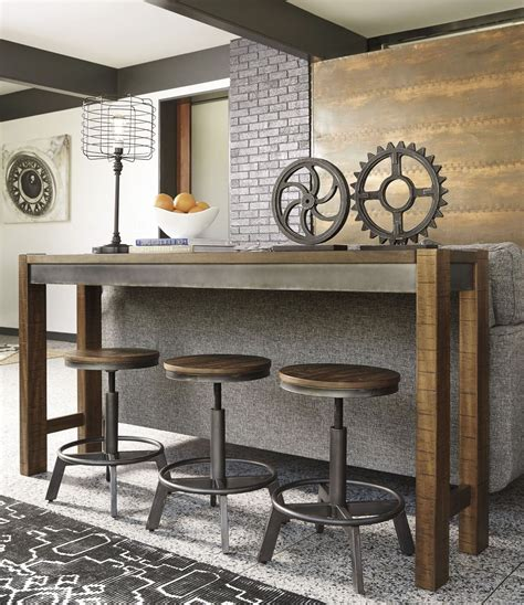 grey counter height table set torjin brown and gray counter height dining room set