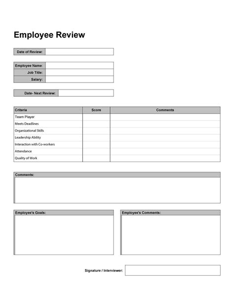 performance evaluation examples apa examples