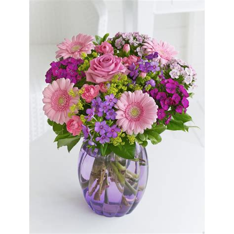 Picture Of Flowers In Vase by Summer Pastel Vase Of Flowers The Flower Box
