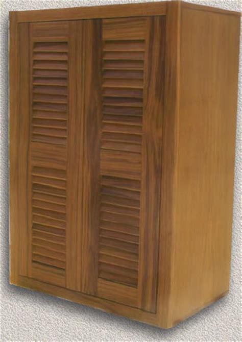 Custom Louvered Cabinet Doors Custom Cabinets Custom Teak Marine Woodwork