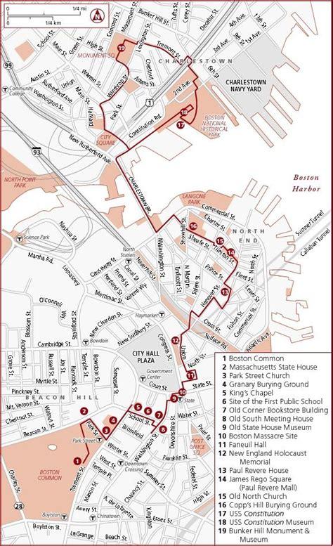 Boston Freedom Trail Map by Boston Freedom Trail Map Design Maptastic Pinterest