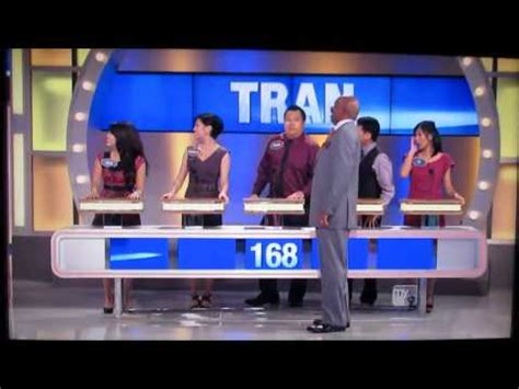 Family Feud Best Episode Ever Tran Family Youtube What Is A Family Feud