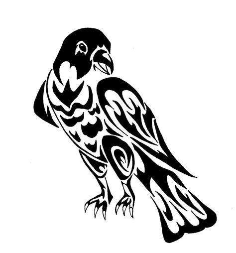 hawk tribal tattoo tribal hawk viewing gallery falcon mascot