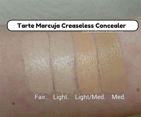 tarte light medium sand tarte marcuja creaseless concealer full cover concealer