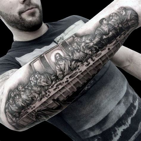 the last supper tattoo design 100 christian tattoos for manly spiritual designs