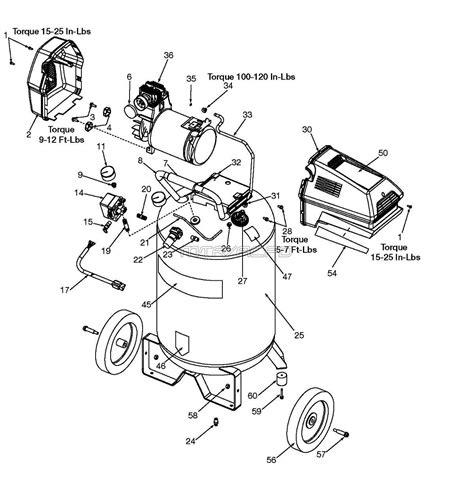 sears craftsman  air compressor parts