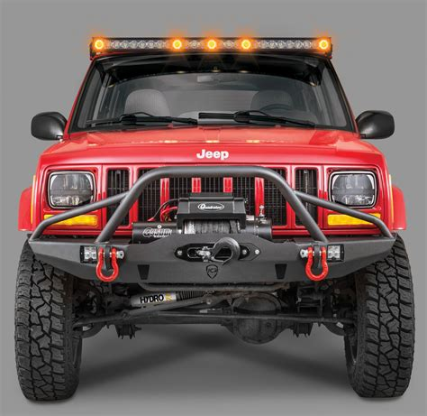 Led Lights For Bar Quadratec J5 Led Light Bar Kit With Windshield Mounting Brackets For 84 01 Jeep Xj
