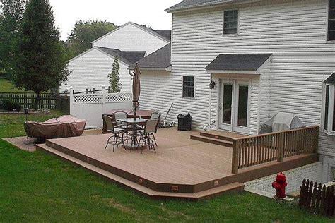 ground level deck patio backyard ground