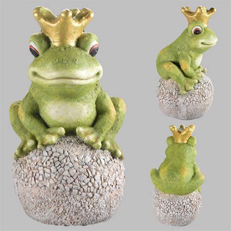 gartendeko gross froschk 246 nig auf kugel gartenfigur garten figur gartendeko